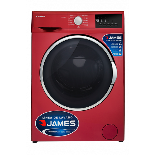 Lavarropas james lr-1008 r rojo 6 kg 1000 rpm