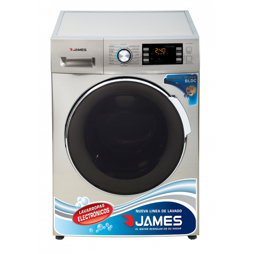 Lavarropas james lr-1016 inox 10,5 kg inox inverter