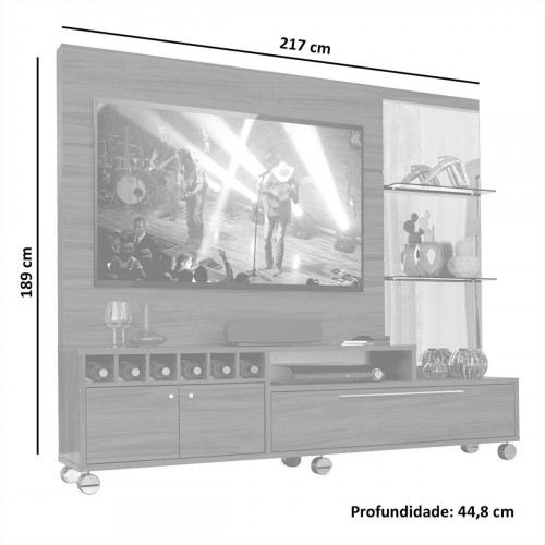RACK TV PINO ELLIOTIS 009/814  470alt x 130 largo x 380prof