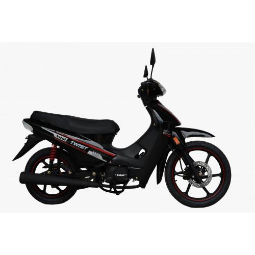 Moto vital twist 110 aleacion f. disco negro/rojo
