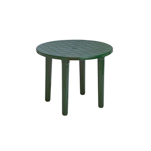 Mesa resina redonda 090 tondo verde