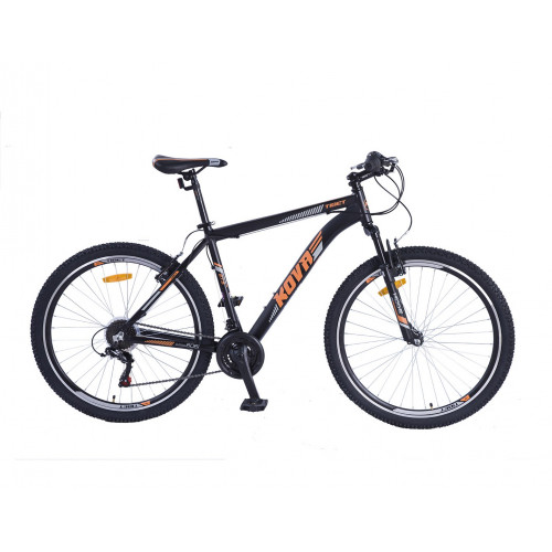 Bicicleta hombre r 27.5 kova tibet freno v-brake negro mate/naranja talle m y l