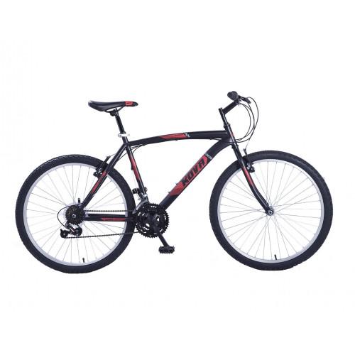 Bicicleta hombre r 26 kova andes 18 vel. negro mate