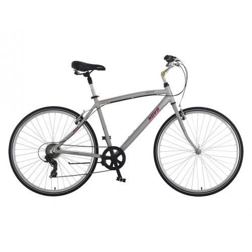 Bicicleta hombre r 28 kova monaco azul nickel o gris mate