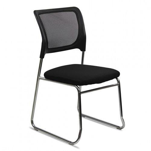 Silla escritorio fija sin ruedas eco negra sst-4003
