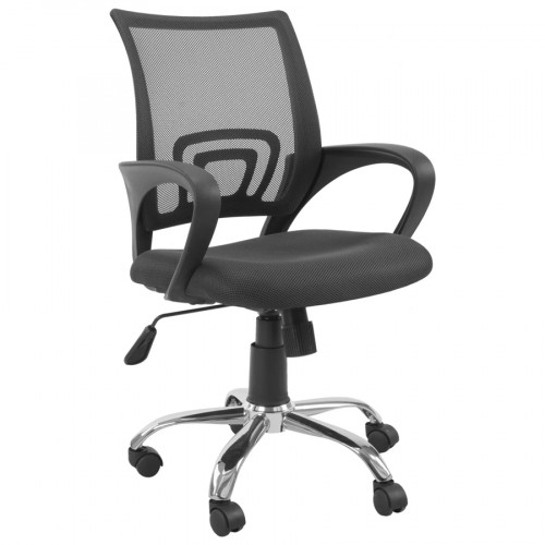 Silla escritorio mesh negra sst-4005 con ruedas