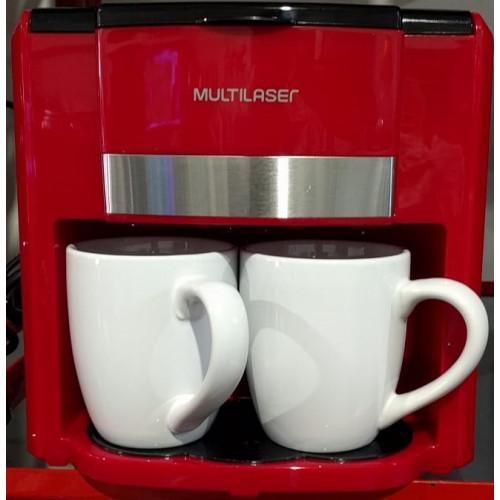 Cafetera electrica con 2 tazas multilaser be016 roja