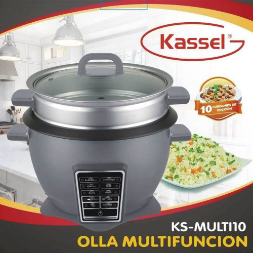 OLLA MULTIFUNCION ARROCERA KASSEL DIGITAL 2,2 LT10 funciones interior removible de cerámica