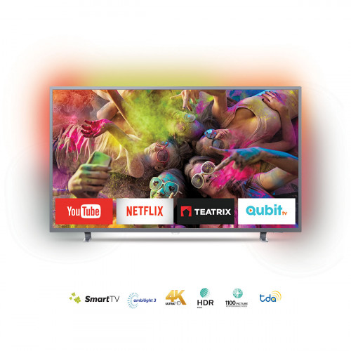 Tv smart philips 4k con ambilight 55""