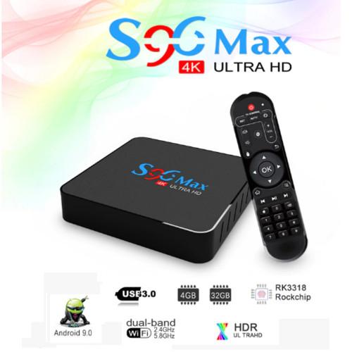 Smart tv box s96 rk3318 4gb 32 gb android 9