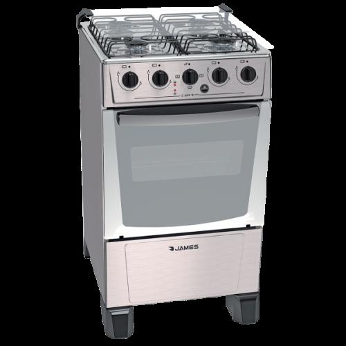 Cocina combinada james c-205 b inox frente acero