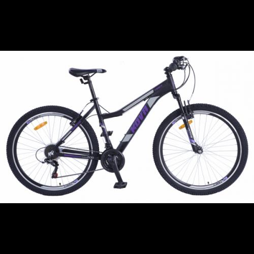 Bicicleta dama r 27,5 kova tibet v-brake negro mate talle m