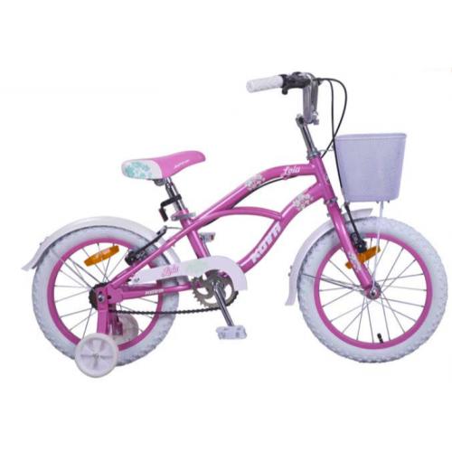 Bicicleta niña r 16 kova lola rosa perlado