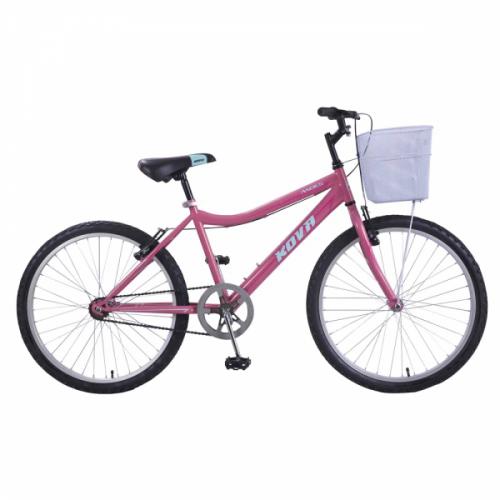 Bicicleta niña r 24 kova andes rosa mate
