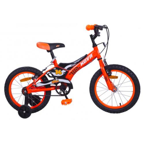 Bicicleta niño r 16 kova obi naranja neon