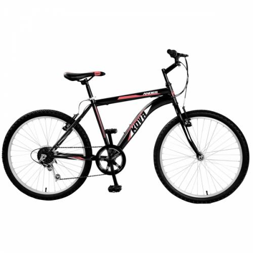 Bicicleta niño r 24 kova andes 6 vel. negro mate