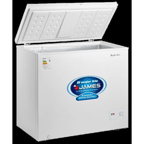 Freezer horizontal james fhj-210 k 194 lt. 1 puerta cerradura eficiencia b - doble acción - interior aluminio