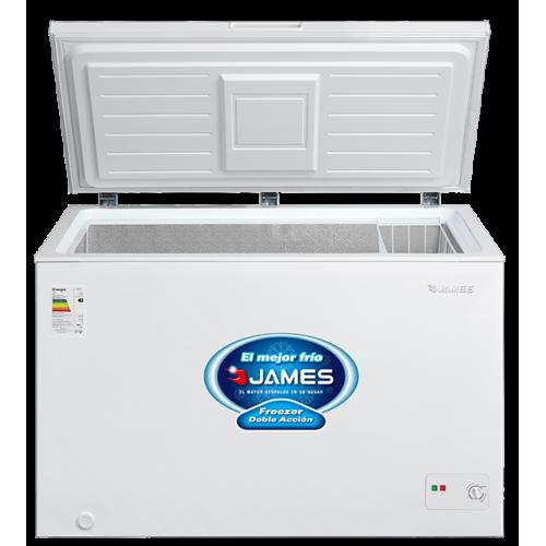 Freezer horizontal james fhj-410 kn 418 lt 1 puerta eficiencia b - doble acción - interior aluminio