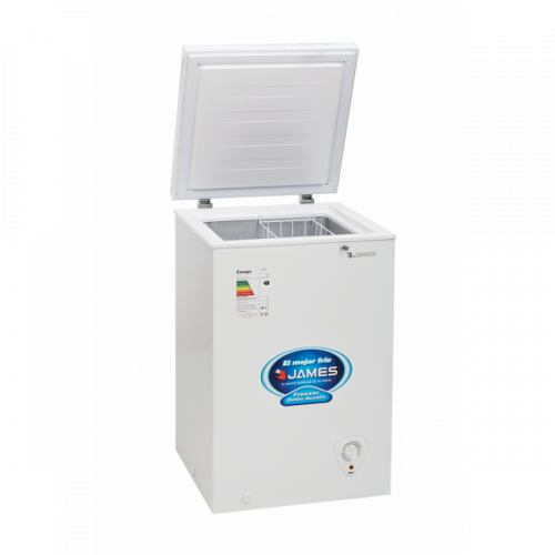Freezer horizontal james fhjn-100 k 95 lt. 1 puerta cerradura eficiencia b - doble acción - interior aluminio