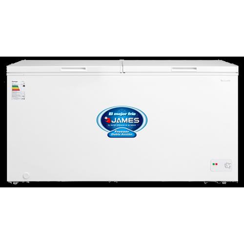 Freezer horizontal james fhj-510 kn 496 lt 2 puertas eficiencia b - doble acción - interior aluminio