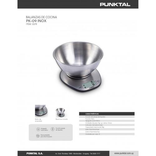 Balanza de cocina punktal pk-09 inox