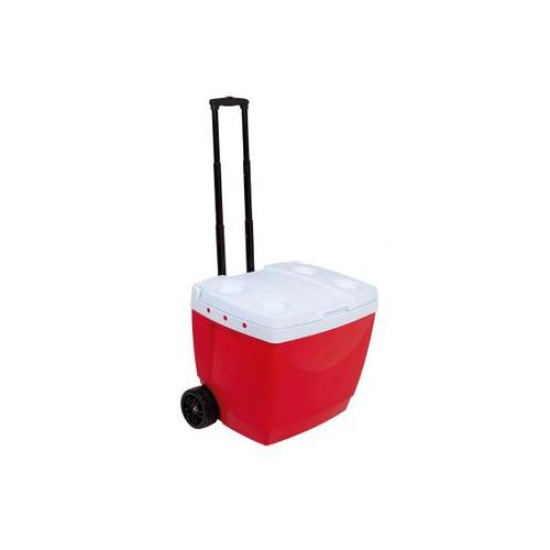 Conservadora con rueditas 42 lt 25108222 conservadora 42l con ruedas - rojo (poliestireno)