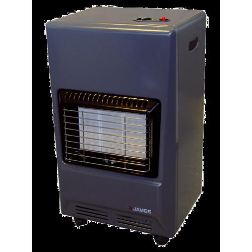 ESTUFA SUPERGAS JAMES F.100 ● Quemador infrarrojo de cerámica● 3 niveles de potencia. ● 3600 kcal/h ● Incluye válvula reguladora