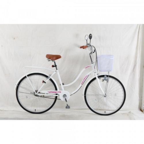 Bicicleta dama r 26 paseo blanca con espejos nitro lady
