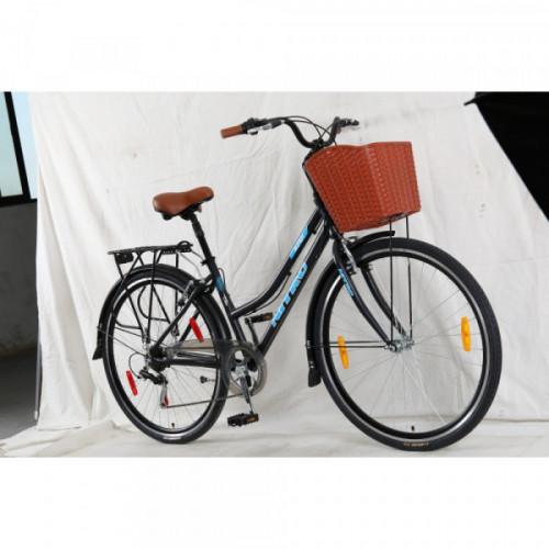 Bicicleta dama r 28 alumino con canasto