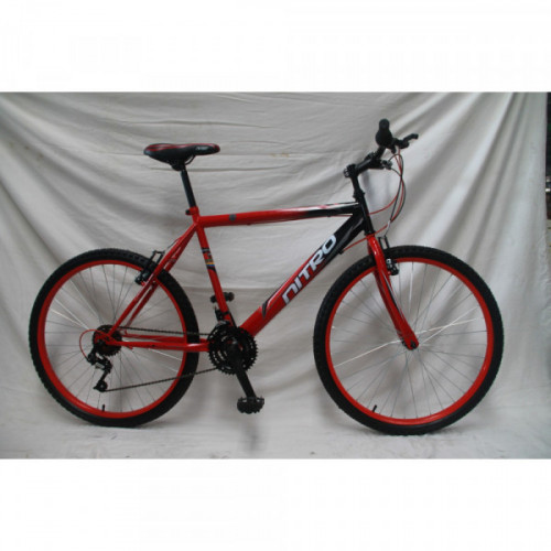 Bicicleta hombre r 26 fracter verde y negra nitro