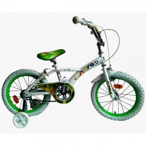 Bicicleta niña r 16 blanca y verde nitro 16330