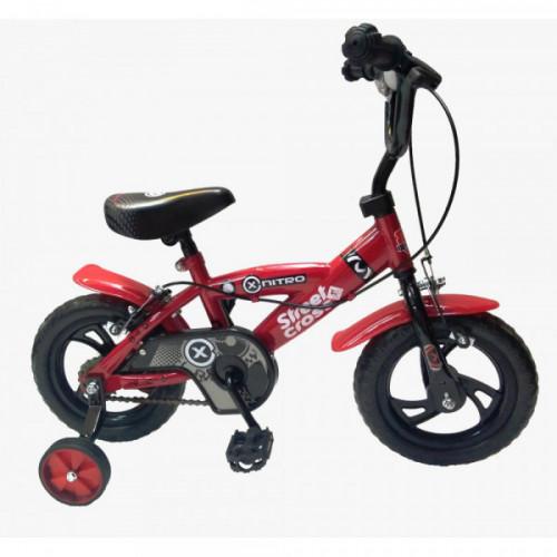 Bicicleta niño r 12 rueda eva nitro roja y azul
