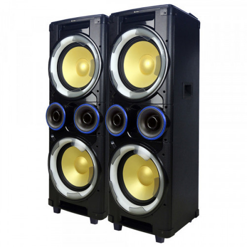 "Parlantes sistema kolke 12 x 2 2 parlantes thunder kpb-242 doble 33,000x"""
