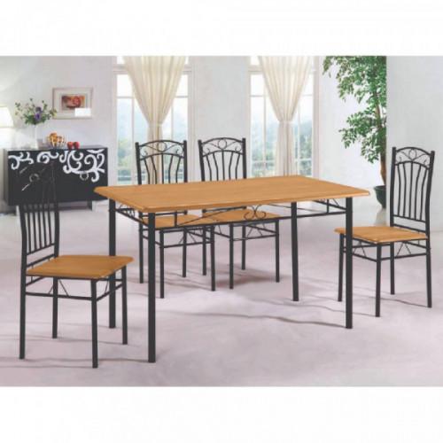 Comedor de caño 6 sillas 82263 oscuro