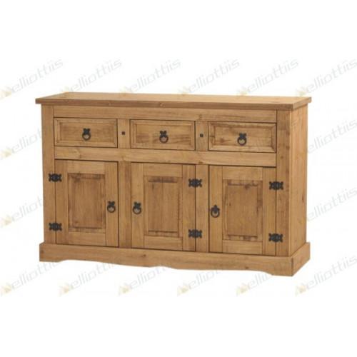 Mueble 3 puertas y 3 cajones pino elliottis 23/113 alt1 84x152 x48prof