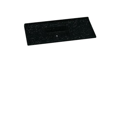 Pileta mesada marmolina 1,20 negra