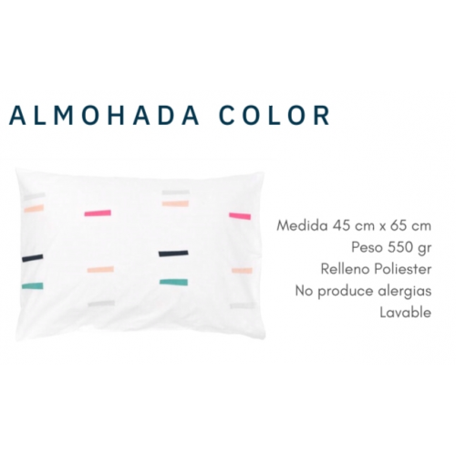 Almohada luna funda color economica