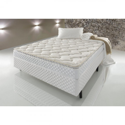 Colchon espuma 2 plazas padua d45 138x188x20 con pillow top