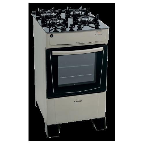Cocina james supergas mesada de vidrio c-690v blanco 4 hornallas