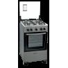 Cocina a gas 4 horn thompson cth1000 color titanium ● mesa en acero inoxidable termocupla de seguridad en el horno