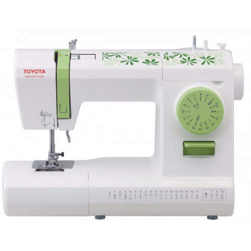 Maquina de coser toyota eco 17c doble aguja brazo libre
