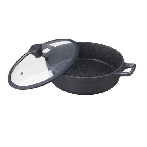 """Cacerola circular con tapa de 28cm con antiadherente modelo """"nero"""""""