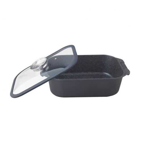 """Cacerola con tapa de 35cm con antiadherente modelo """"nero"""""""